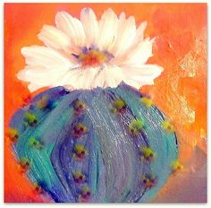 Cactus...oil painting by betsy leavitt