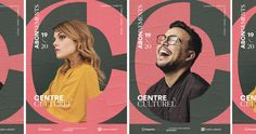 Centre Culturel — Branding on Behance Poster Design Layout, Graphic Design Layouts, Web Design, Corporate Branding, Branding Design, Behance, Visual Identity, Brand Identity, Old Logo