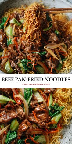Asian Recipes, Beef Recipes, Cooking Recipes, Healthy Recipes, Ethnic Recipes, Recipies, Pan Fried Noodles, Beef And Noodles, Asain Noodles