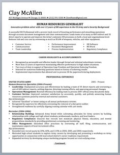 military resume to civilian
