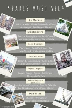 paris must see arrondissements and districts- got to visit attractions and areas in the city of love, France #TravelEuropeIdeas