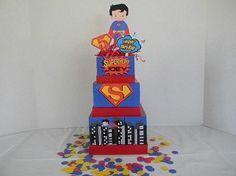 Superhero Superman Inspired Birthday Centerpiece