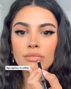 Nude Makeup, Glam Makeup, Skin Makeup, Lip Makeup Tutorial, Lipstick Tutorial, Lip Liner Tutorial, Gorgeous Makeup, Pretty Makeup, Maquillage Cut Crease