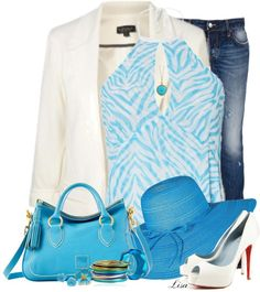 """Spring in Blue"" by lmm2nd ❤ liked on Polyvore"