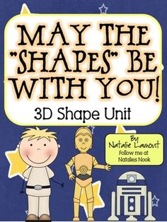 Kids will have a great time learning about 3-dimensional shapes with this Star Wars theme!  Let me introduce you to Luke Sphere Walker...