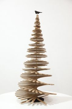 cardboard tree.  giles miller.