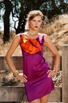 Hand painted dress on silk by INLUSH Find it at: shop.inspirare.com