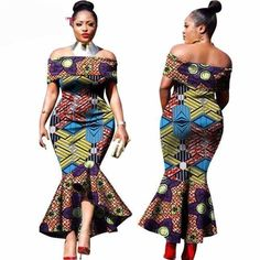 Ankara dress, Dashiki Plus Size Long Dress, African Dress Styles - African Styles for Ladies African Dresses For Women, African Fashion Dresses, African Attire, African Wear, African Clothes, African Outfits, Ankara Fashion, Ankara Gown Styles, Ankara Gowns