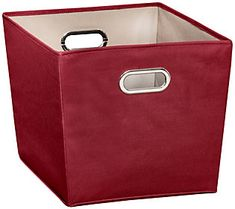 This set of two sturdy storage bins look stylish against your home decor theme while holding everything from blankets to board games. From Honey-Can-Do. Large Storage Bins, Storage Baskets, Get Your Life, Cleaning Wipes, Playroom, Canning, Red, Board Games, Blankets
