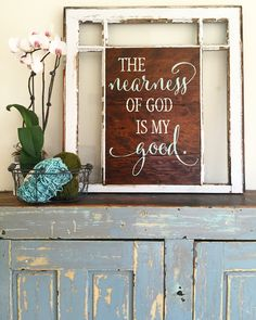 The nearness of God is my good. Psalm 73:28 By Cellar Designs