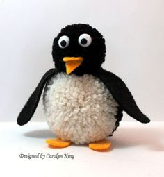 Penguin Pom Pom Animal - Super Cute!