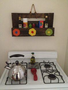 Organizador de cocina con reciclaje. (Pallets)