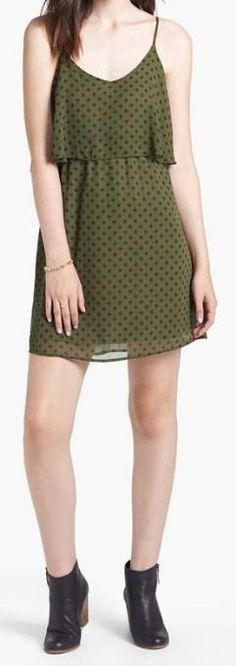 Darling! Print olive dress