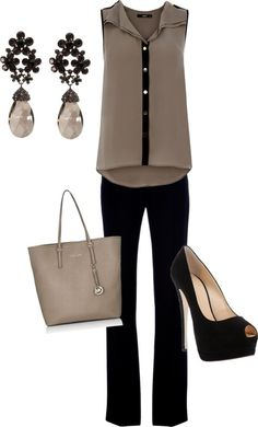 Black & Brown Work Outfit
