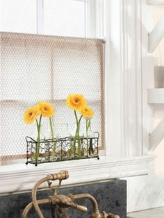 Very Cute! @  http://www.countryliving.com/homes/how-to-get-the-look/chic-chicken-wire-0311#slide-1