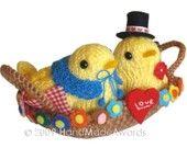 Sweet My VALENTINE birds Love nest PDF Email Knit PATTERN