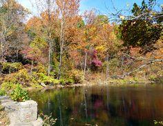 Spring reflection. Ha Ha Tonka Springs, Lake of the Ozarks, Missouri