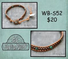 WB-S52 beaded wrap bracelet Single wrap natural by 83GypsyRoad