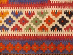This handmade vintage kilim rug is flat woven in a tapestry weave and made entirely of wool and is around 50 years old. Kilim rugs are a personal favorite of mi Weaving Patterns, Ethnic Patterns, Oriental Rugs, Contemporary Area Rugs, Tapestry Weaving, Kilim Rugs, Pattern Art, Pixel Art, Plywood Furniture