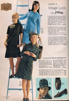 Aldens catalog 1967.  Colleen Corby (top), unknown model and Cay Sanderson (bottom).