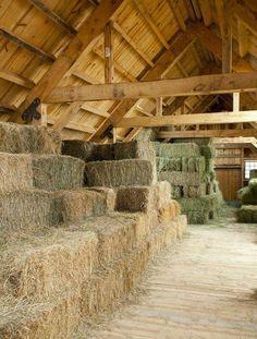 Never seen a hay shed so clean