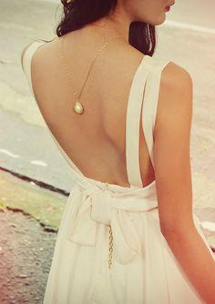 Backless Blush Dress