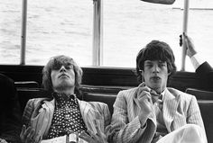 brian jones and mick jagger in new york - 1966