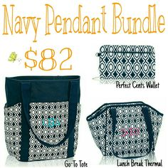 Navy Pendant Bundle - https://www.mythirtyone.com/steioff  Please email me before you order so I can make sure you get the special pricing! jessica.steioff@gmail.com