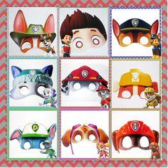 Máscara Patrulha Canina Paw Patrol Masks, Paw Patrol Party Decorations, Paw Patrol Invitations, Felt Crafts, Donald Duck, Safari, Crafts For Kids, Disney Characters, Fictional Characters