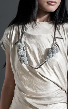 Frozen Nature Necklace - organic-inspired jewellery art // Sam Tho Duong