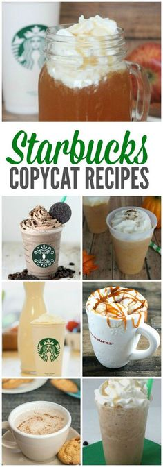The BEST Starbucks Recipes and Copycat Starbucks Drinks to make at Home! Easy Homemade Treats!