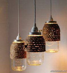 Светильники лампы своими руками