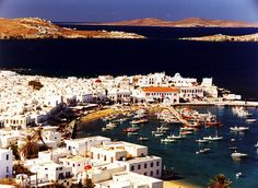 Mykonos, Greece - I've always wanted to go to Greece ever since I saw Sisterhood of the Traveling Pants 2. Lame, I know.  I've heard it's dreadfully hot there though.