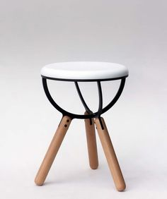 The Illusive Stool by Lefteris Tsampikakis Design is inspired by the strange world of quantum mechanics and the illusive nature of subatomic particles – in particular, the drawing of the structure. Home Decor Items, Home Decor Accessories, Wooden Furniture, Cool Furniture, Furniture Styles, Furniture Design, Wooden Wardrobe, Design Awards, Contemporary Furniture