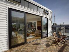 Teak outdoor deck panels by Ikea
