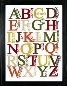 alphabet - positive affirmations