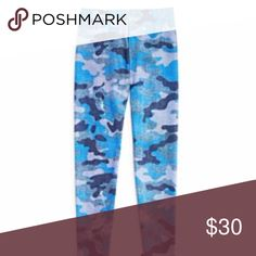 Zara Terez Girl's Denim Camo Leggings These Denim Camo Leggings will be the coolest new piece in her wardrobe. Our bestselling camo print gets updated with a stylish blue hue, but it's the subtle faux denim texture that makes these babies truly unique. Made in the USA. Girls medium 10/12.  22 inch waist. 31 inch length. Terez Bottoms Leggings