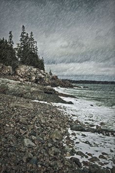 'Coastal rain storm, Maine, USA' by John Greim