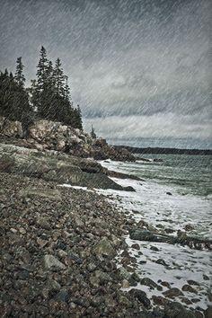 'Coastal rain storm, Maine, USA' by John Greim