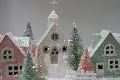 Glitter Houses by cherished*vintage, via Flickr
