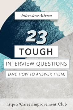 Tough Job Interview Questions (and how to answer them) – Education is important Situational Interview Questions, Difficult Interview Questions, Questions For Girls, Interview Questions And Answers, This Or That Questions, Job Interview Tips, Job Interviews, List Of Skills, Physical Education