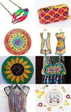 Peace, Love & Flower power by Stefanie on etsy -- pinned with TreasuryPin