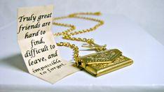 SALE Letter Locket Necklace, Envelope Necklace, Friendship Necklace, Bird Necklace, Gold Personalized Necklace, Secret Message