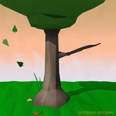 Transitions.   Low poly autumn. Created in Cinema4D by Conrad Veddern.