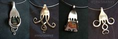upcycled forks into jewelry pendants