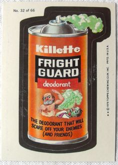 Wacky Packages Stickers   ... DAMAGE : Christian Montone: Wacky Packages Stickers 1979 (Part 2