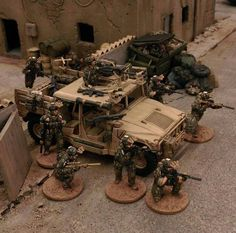 Military Figures, Military Diorama, Bolt Action Game, Warhammer Imperial Guard, Airfix Models, Military Modelling, Army Vehicles, Tabletop Games, Paint Schemes