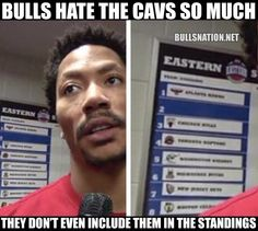 BULLS HATE THE CAVS SO MUCH THEY DON'T EVEN INCLUDE THEM IN THE STANDINGS