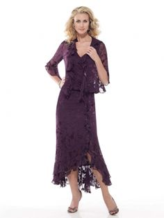 577ee9bd45221 Check out the deal on Capri by Mon Cheri Silk Burnout Tea Length Evening  Dress at French Novelty
