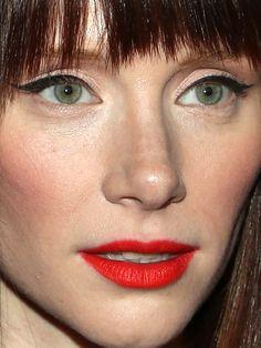 Bryce Dallas Howard makeup close-up: http://beautyeditor.ca/2013/11/05/bryce-dallas-howard-makeup/